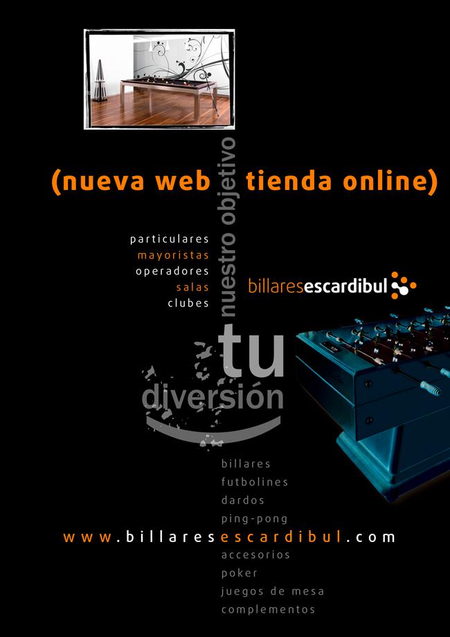 Billares Escardibul lanza la nueva web