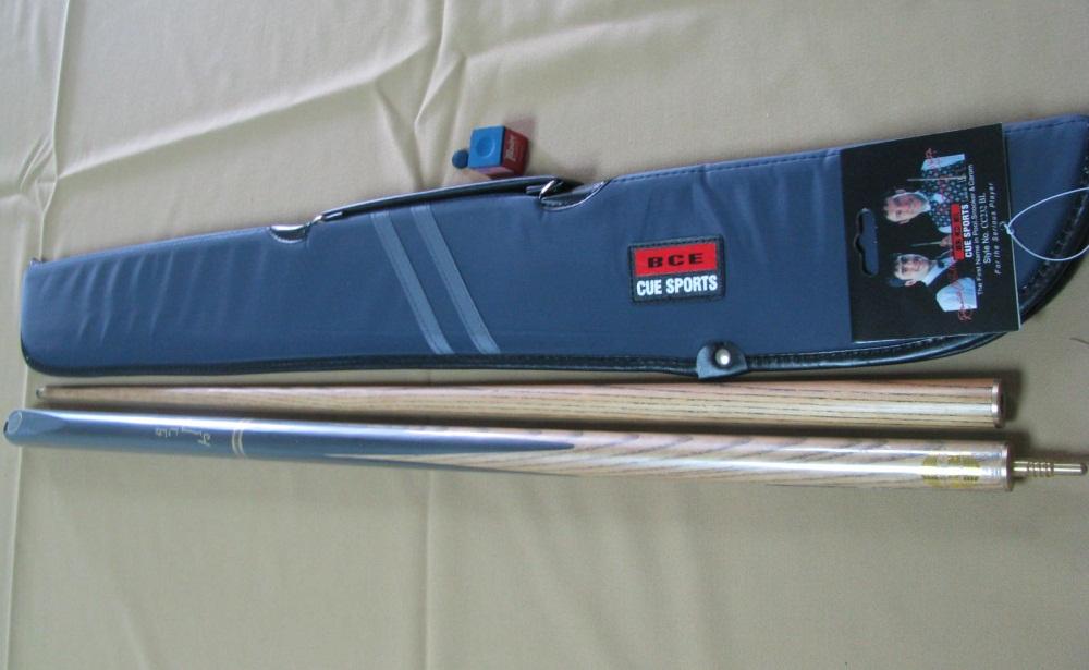Taco BCE Jimmy White JW600 + Saca azul BCE + Giz e sola