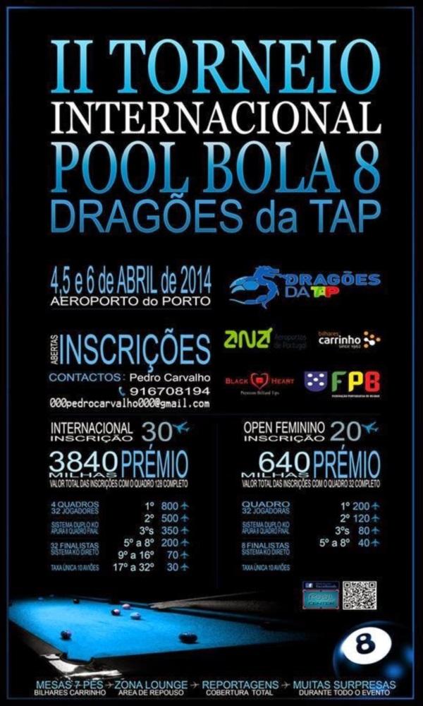 II Torneio Bilhar - Dragões da TAP