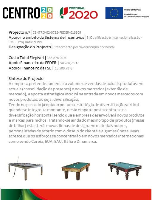 Ficha de Projecto - PT2020 Internacionalização